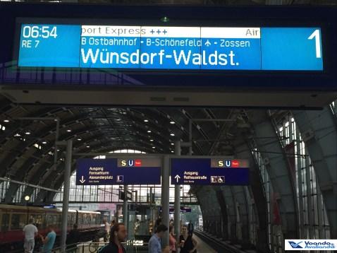 Estação Trem Berlin - Letreiro