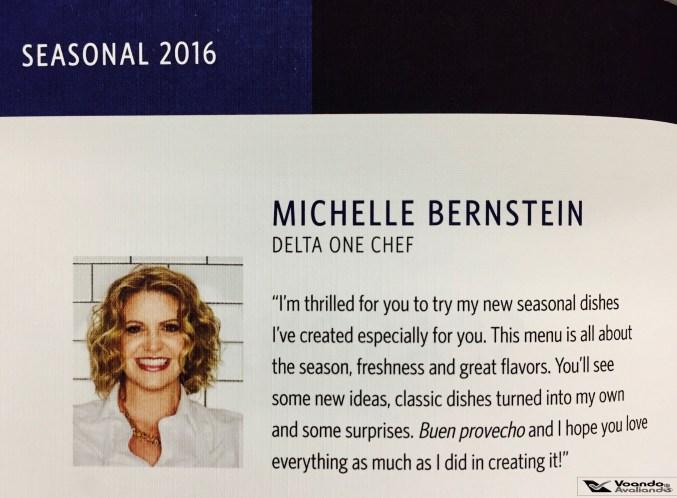 Menu - Delta One - B767 - Chef