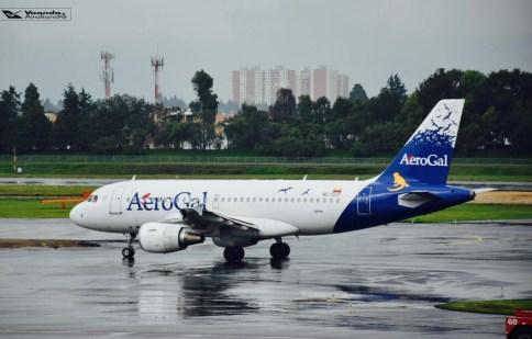Bogotá - Visão Sala VIP - A319 Aerogal