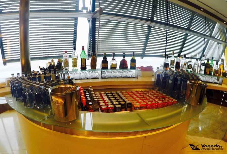 Opções de bebidas - Sala VIP Iberia