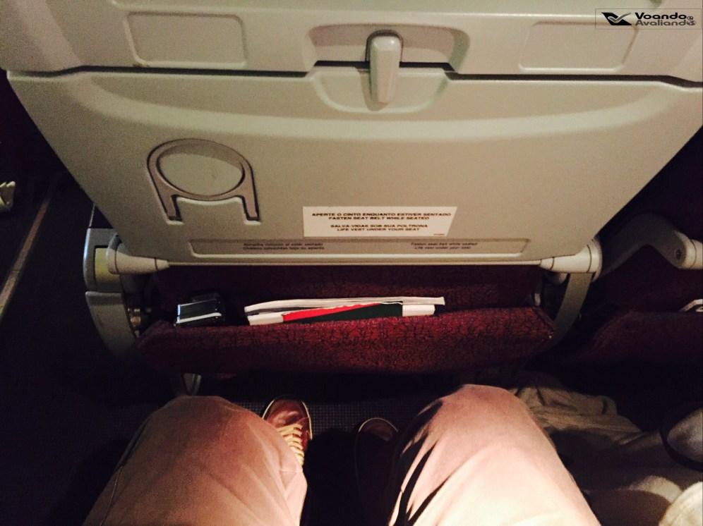 Espaço para pernas - B767 - JFK-GRU