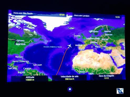 Mapa de Voo - LATAM - GRU LHR