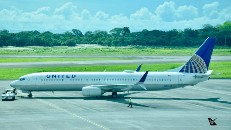 B737-8 da UNITED no Panamá