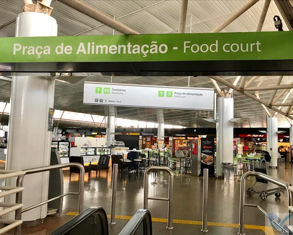Aer. BSB - Praça de Alimentação - Entrada