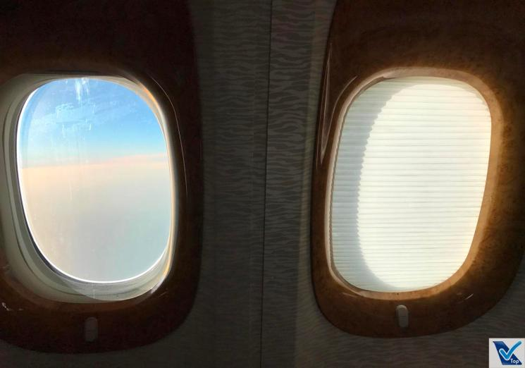 B777 - Emirates - Business Janelas Cortina 2