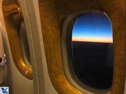 Janela B777 Por do Sol Emirates 4