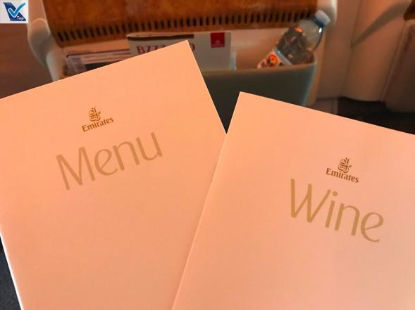 Menus Emirates - Business