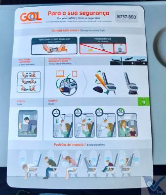 Cartão - Instruções Segurança- B737 Gol - GIG EZE