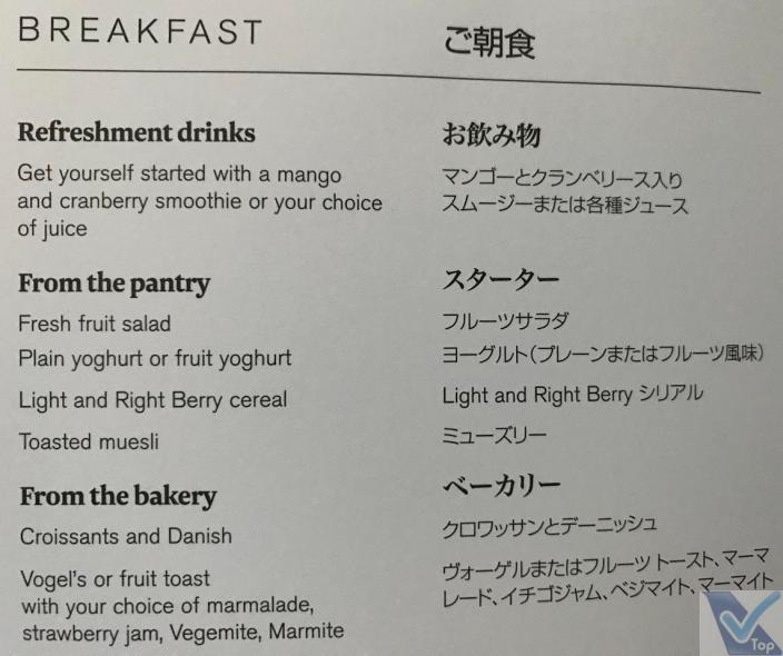 Cardápio - Business - ANZ - Café da Manhã