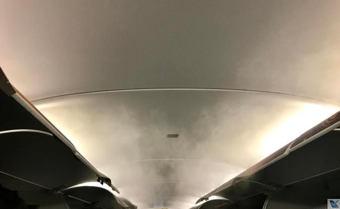 Inside A320 - VietJet Air - Fumaça 2