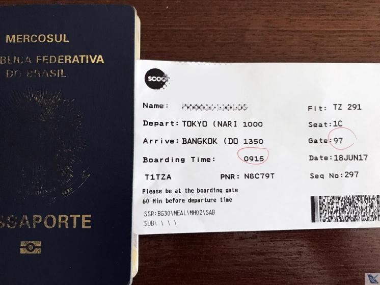 Passaporte + Boarding Pass - Scoot
