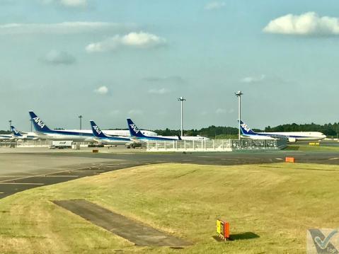 Taxiando - Narita - B787 - ANZ (2)