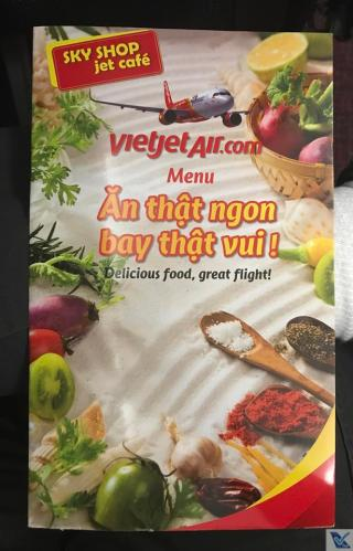 Vietjet Air - Cardápio venda a bordo 1