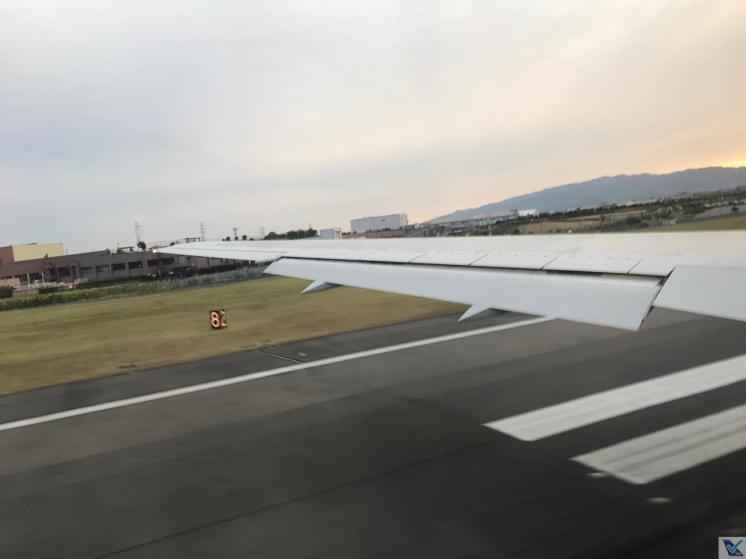 Visão Janela - Decolagem Osaka - B767 - JAL (2)