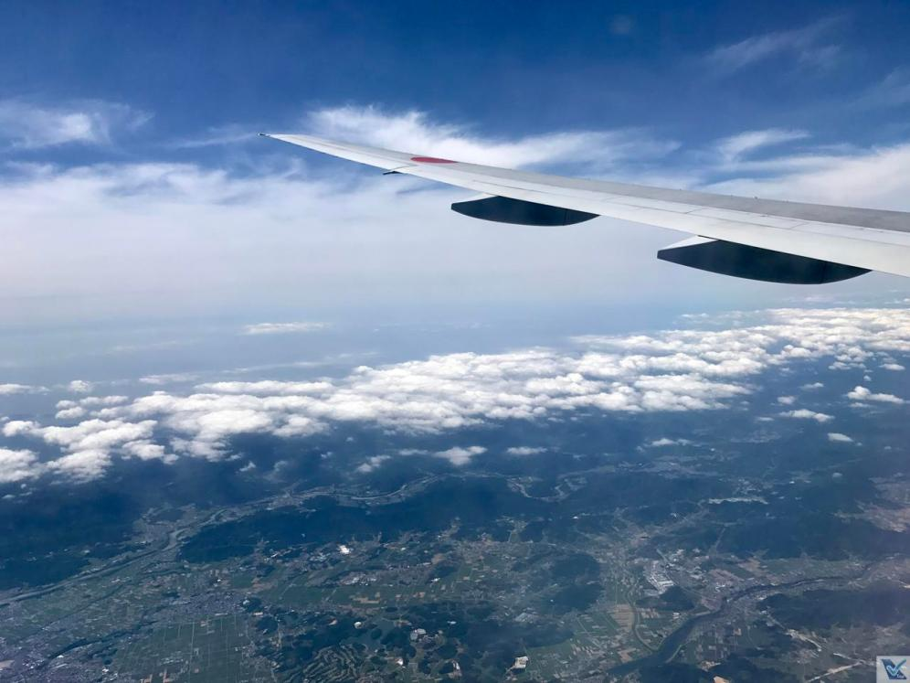 Visão janela - ANA - B777 - Haneda Osaka 1