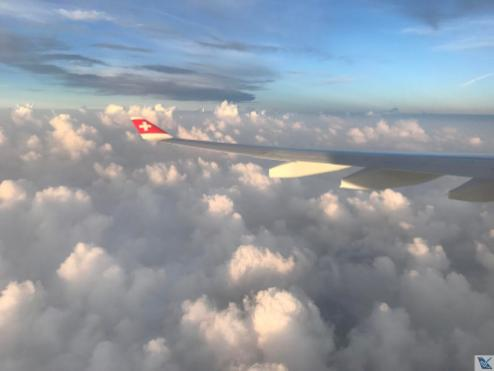 Asa A330 - Swiss - Nuvens (4)
