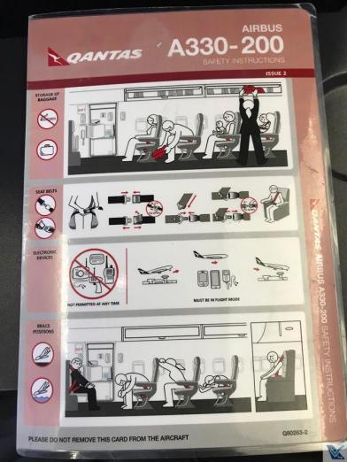 Cartão de Segurança - Qantas - A330