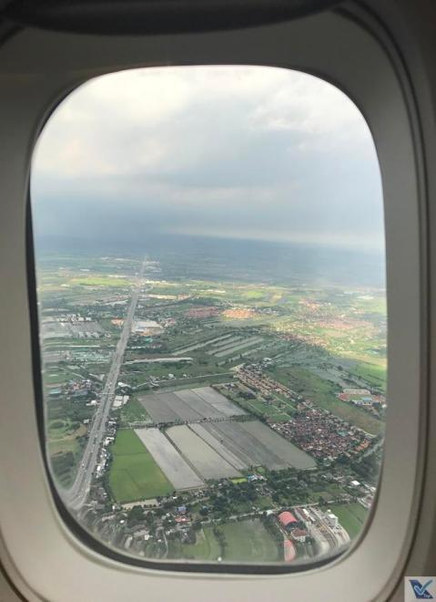 Janela - Aproximação BKK - B747 Thai 3