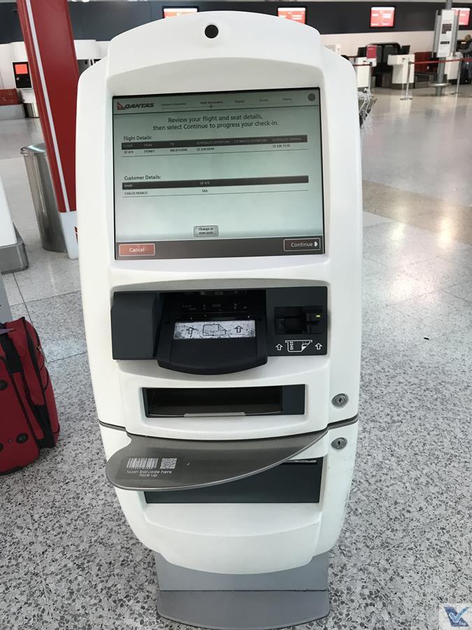 Qantas - Totem - Aeroporto SYD