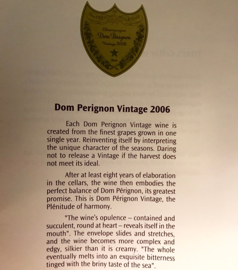 Dom Perignon - Detalhes