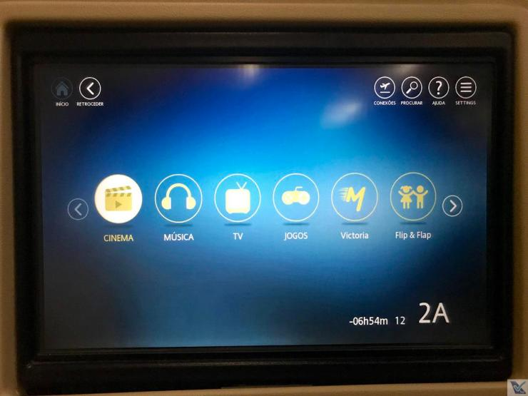 IFE - TAP - A330 - Business - Menu Principal