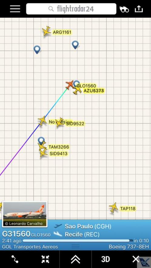 Flight Radar - CGH REC 2