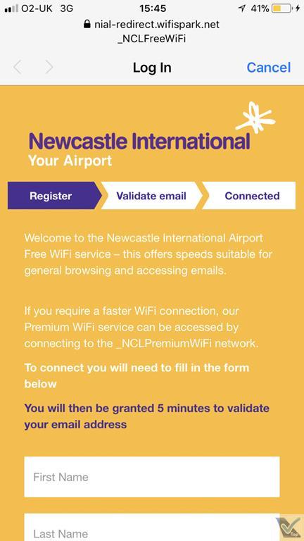 Wi-fi - Aer. Newcastle (2)