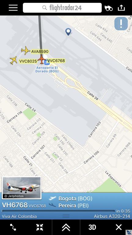 Flight Radar - A320 Vivaair (2)