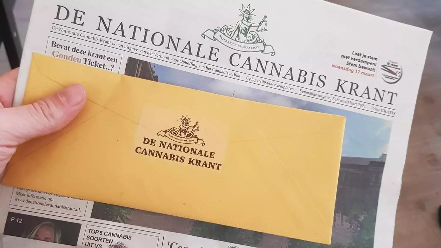 Eerste Gouden Ticket in De Nationale Cannabis Krant gevonden