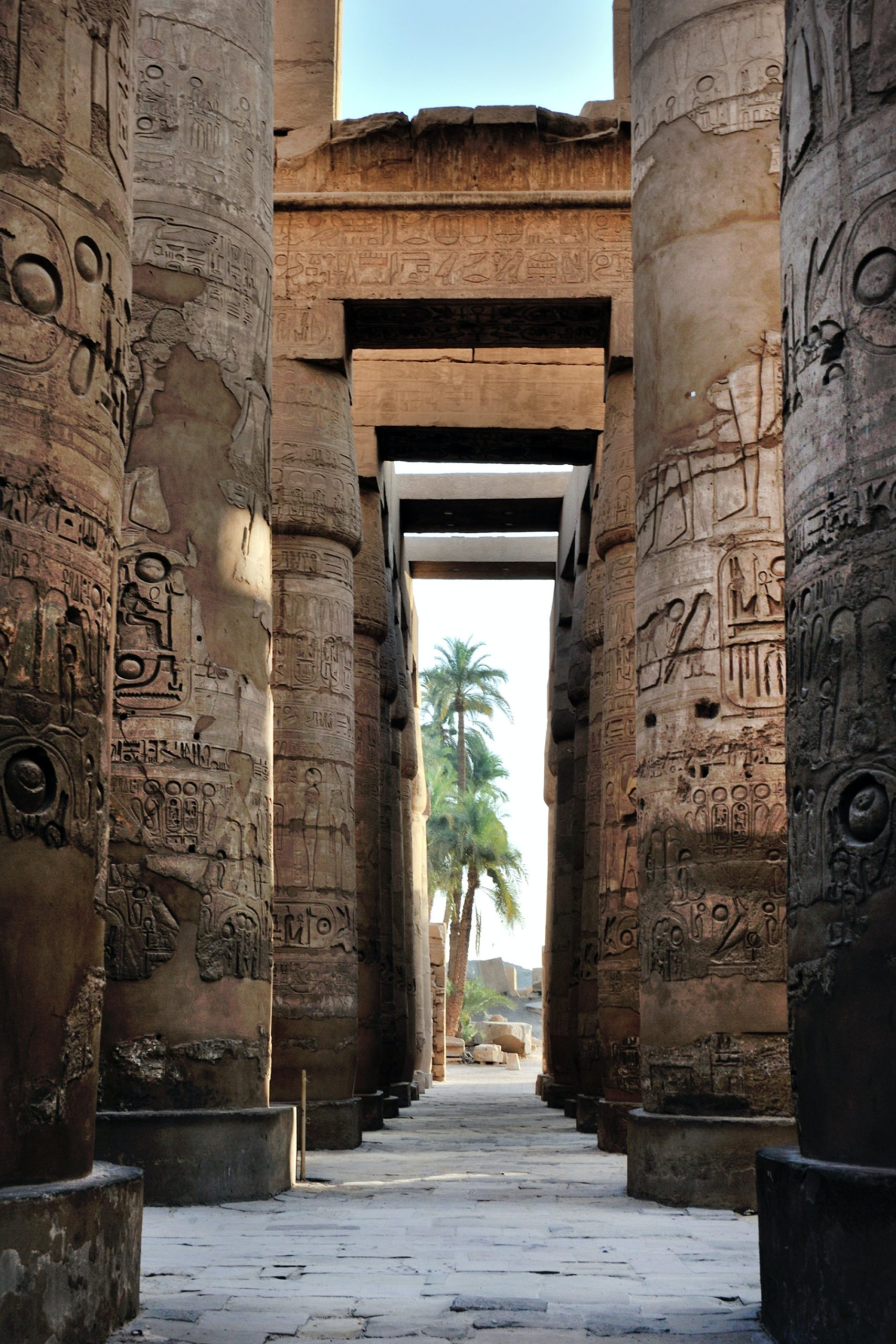 Photo of ancient Egyptian columns