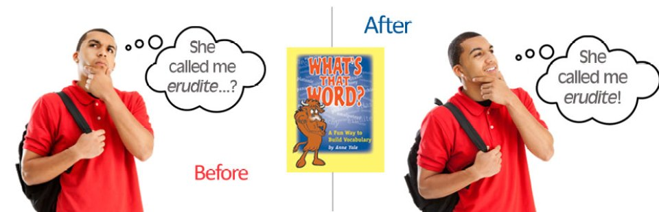 Build your vocabulary with What's That Word? workbook
