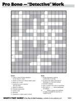 Detective Work Giant Crossword