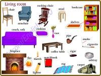 Living Room  Vocabulary in English | Vocabulary Home