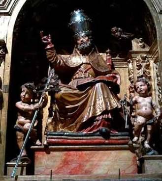 São Pedro na Cátedra. Igreja de Santa Maria Sevillha - Espanha
