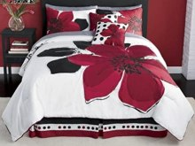 Black White And Red King Size Bedding
