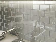 gray glass subway tile