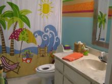 Kids Beach Bathroom Decor