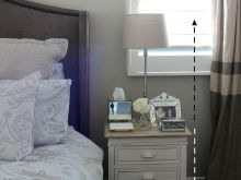 lamp height for bedroom night table