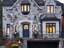 stone front houses