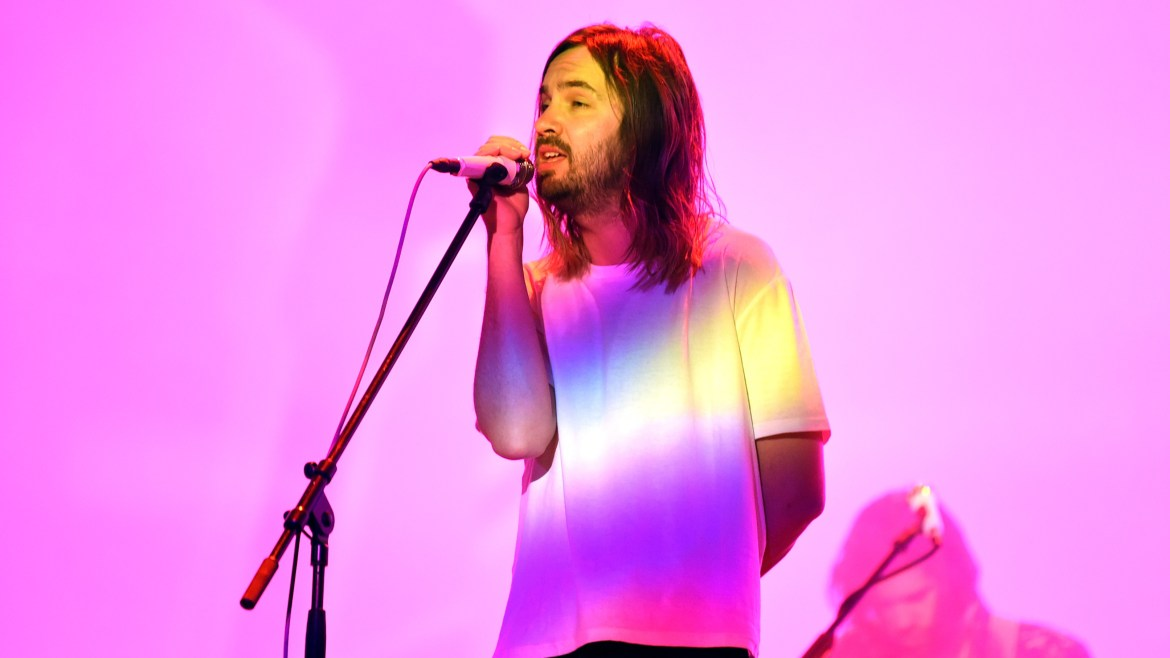 Kevin Parker of Tame Impala performs at Coachella in 2019. The band's latest album, The Slow Rush, is due out in February.