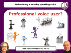 Training Webinars for professional voice users
