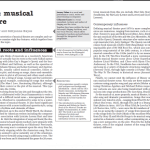 Musical Theatre development GCSE article