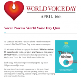 World Voice Day 2016 Vocal Process Quiz