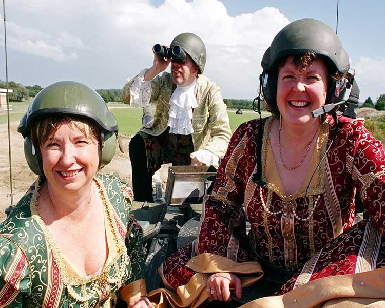 Tanks for the memory: two divas and a pianist on a Chieftan tank