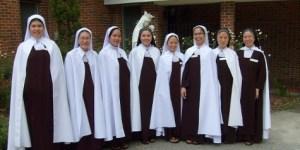 Eight Vietnamese nuns in the Carmel in Mobile, AL
