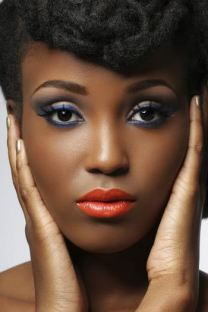 Maquiagem para Negras Meia Estação Outono/Inverno 2014