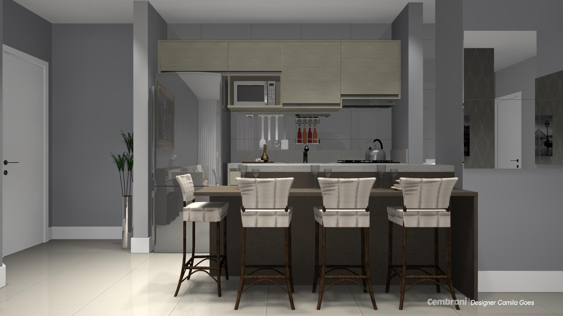 cozinha linear03 voceprecisadecor.com.br #796F52 1920 1080