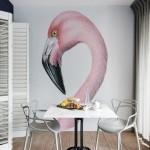 Decor: Flamingos na decoração.