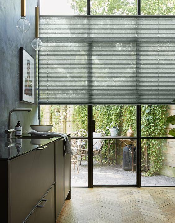 cortina plissada