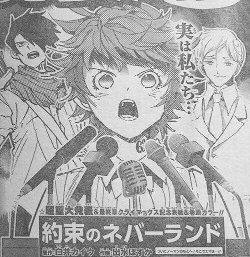 Mangá de The Promised Neverland terá Anuncio Importante